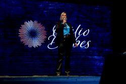 Gabriela Feltes Seibert Presidente da Acisfe - abertura da palestra